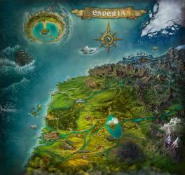 Storie di Esperia - General map by adrianamusettidavila
