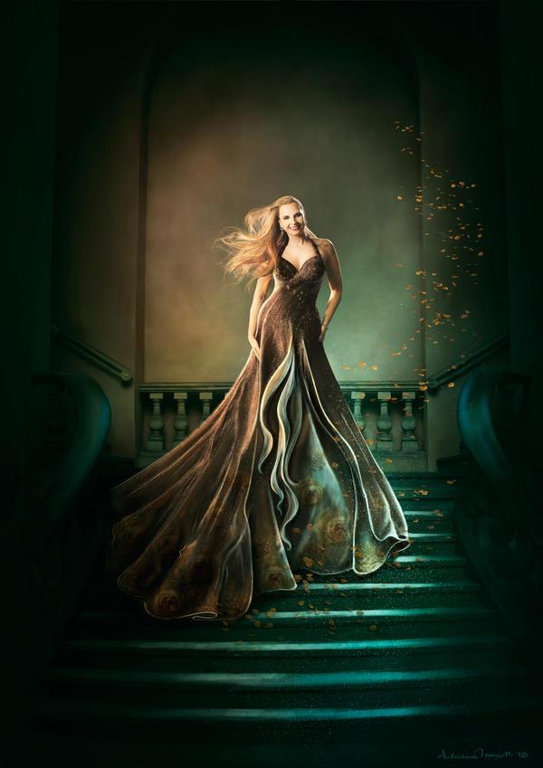 Fantasy portrait - Ana by adrianamusettidavila