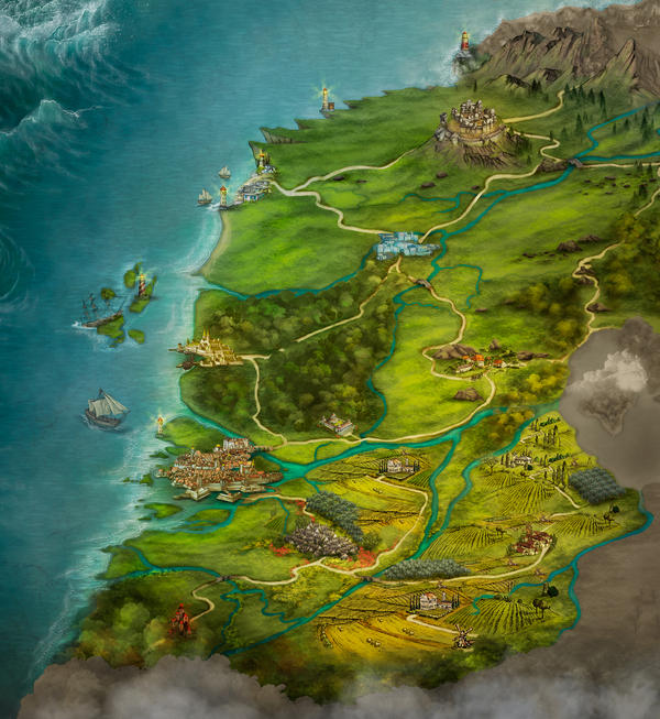 Storie di Esperia - Regional map 2 by adrianamusettidavila
