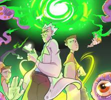 Rick and Morty portal by DiabolicalDog