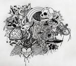 weird ink doodles