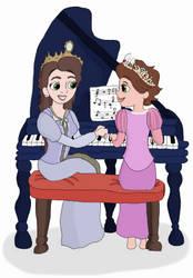 Piano Lesson by Julkauke
