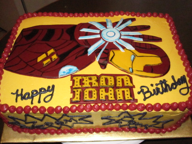 Iron Man Birthday Cake Design Bjaydev for