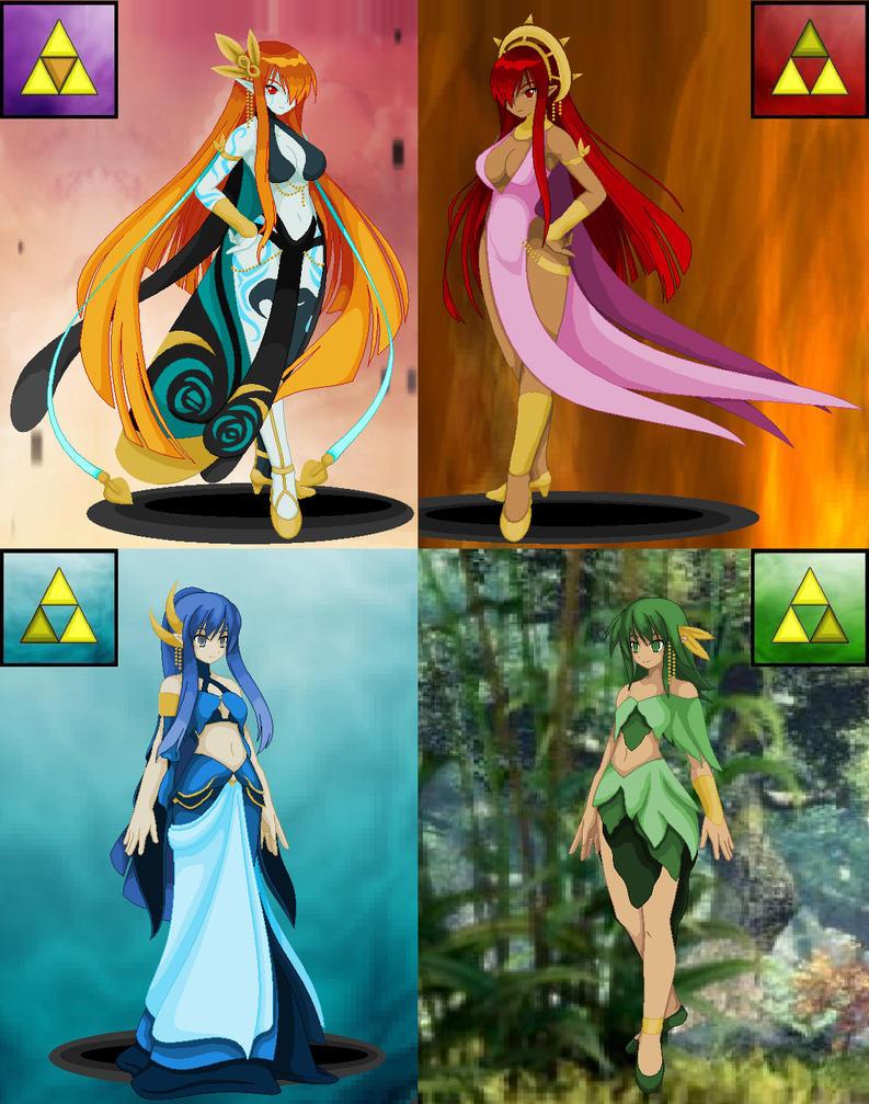 Legend of Zelda Goddesses by Mistress-DarkLoki on DeviantArt
