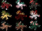 MLP Christmas Adopts! (OPEN!) by DasturDash