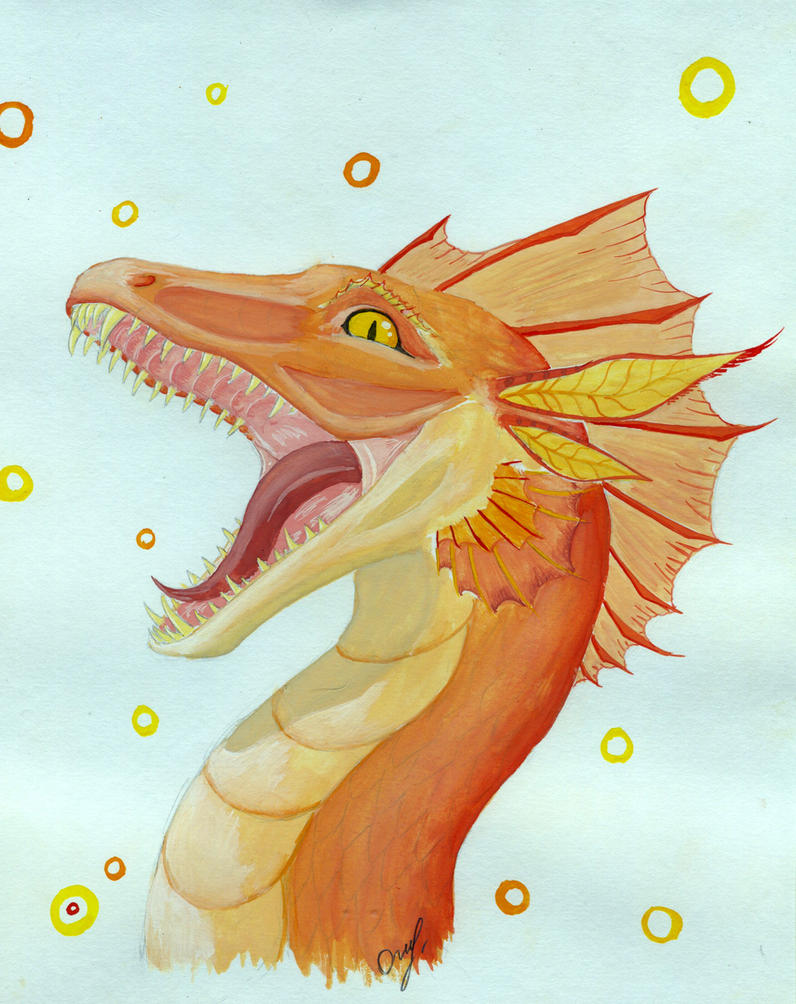 Smiling dragon by Chickenzaur
