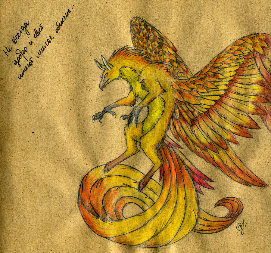 Griphoenix by Chickenzaur