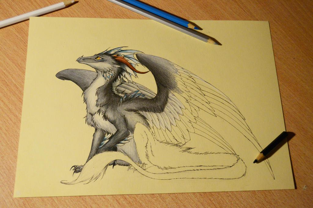Half of dragon by Chickenzaur