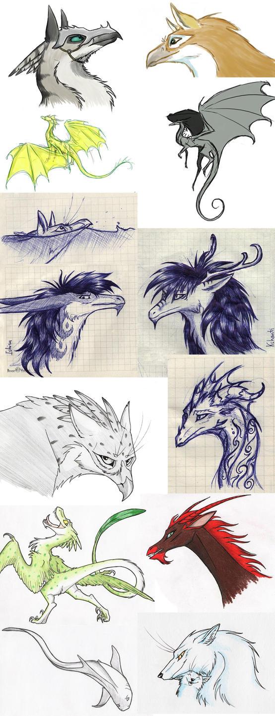 Sketchdump by Chickenzaur
