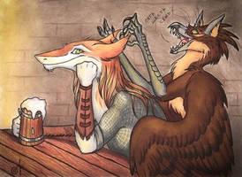 In the pub by Chickenzaur