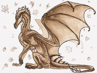 Autumn Dragoness by Chickenzaur