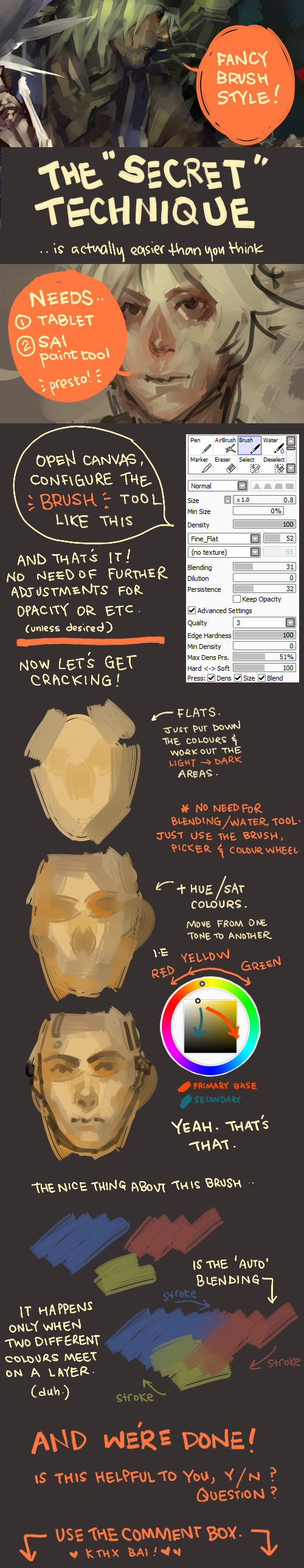 SAI paint tool : my brush by zuqling