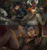 piltover's finest.. by zuqling