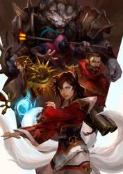 [LoL] Team Ahri by zuqling