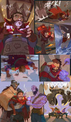Graves! Gets his! Cigar! by zuqling