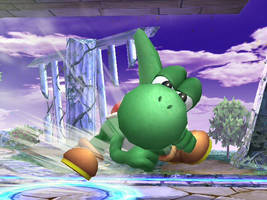 Angry Yoshi by theyoshifanboy