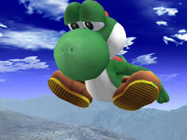 Huge Yoshi Sits on A mountain by theyoshifanboy