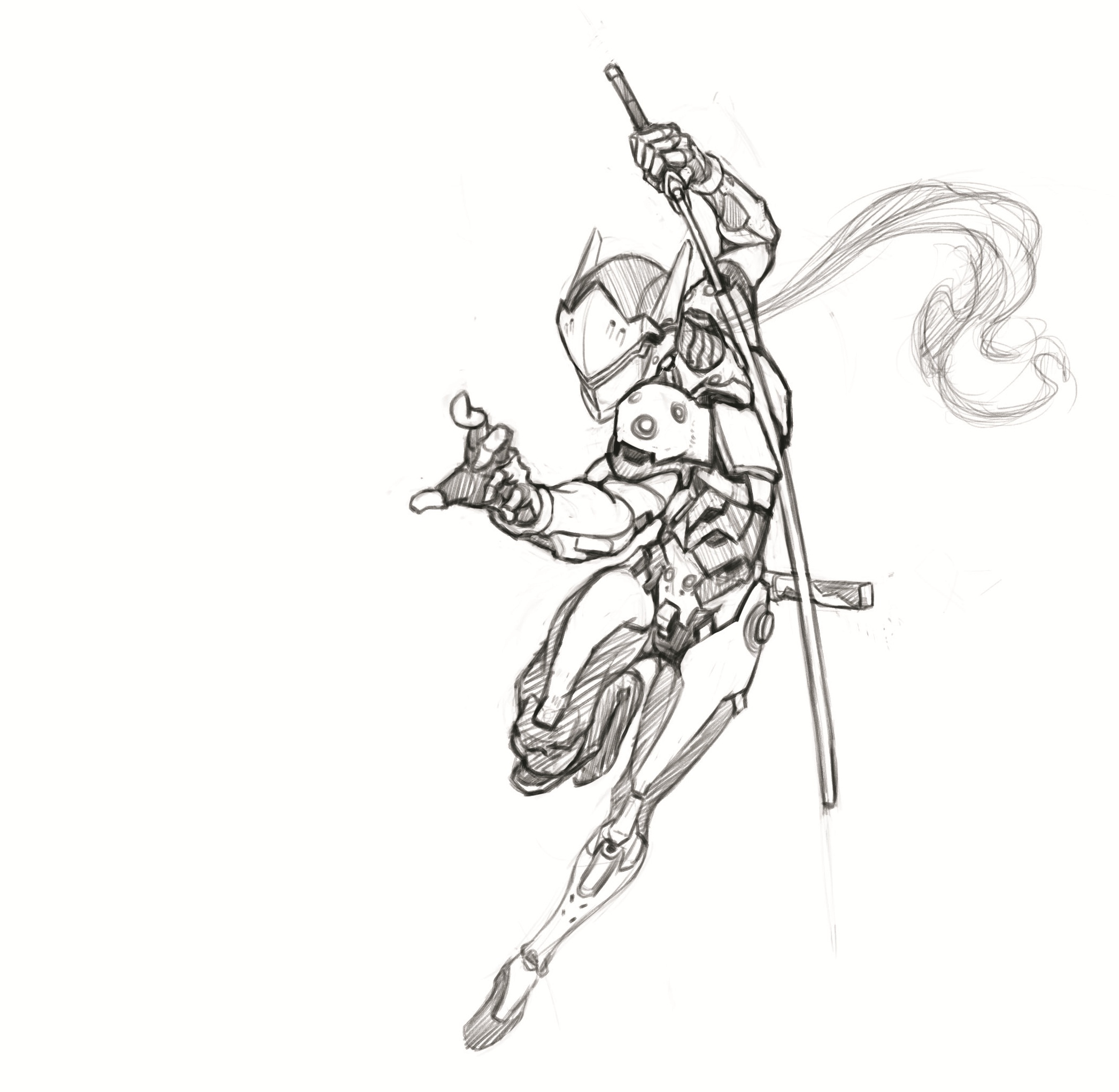 overwatch dva page coloring pages