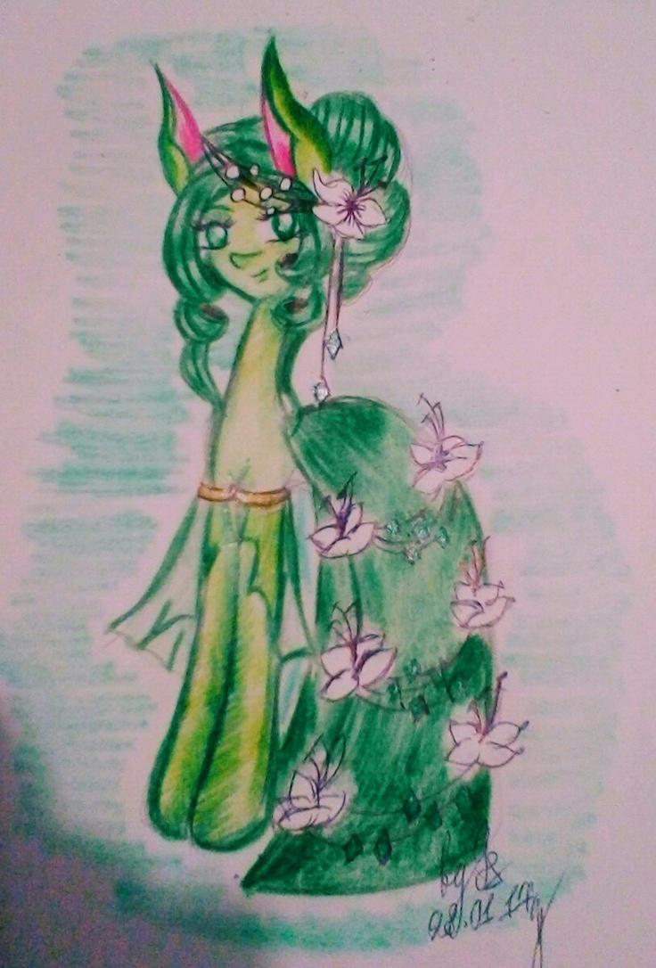 Rachael Nature in Gala Dress by GalaxySultan