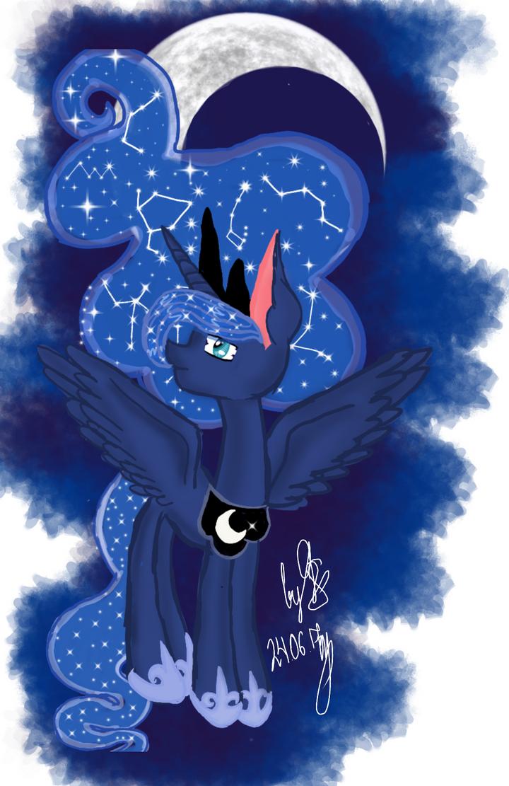 Night goddess by GalaxySultan