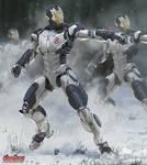 Avengers Concept Art - Iron Legion