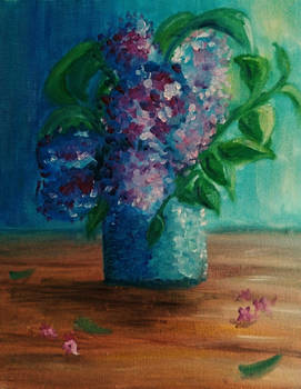 lilac oil on canvas