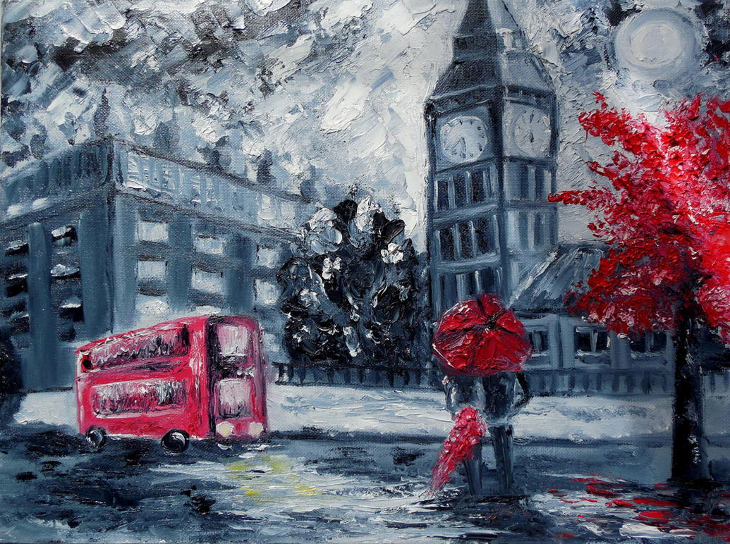 London (oil on canvas) by ReVercetti