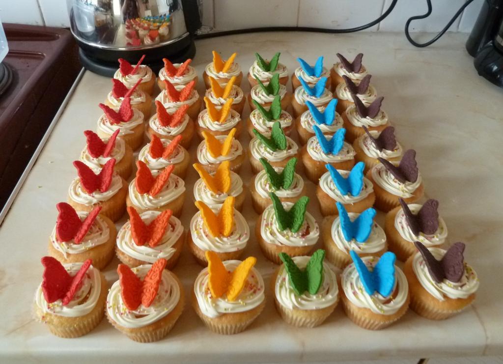 Rainbow Cake Butterfly