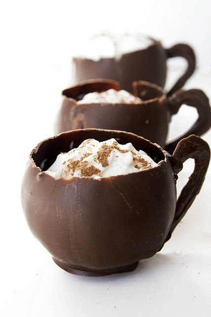 Chocolate cups filled with chocolate mousse by tracylopez