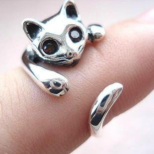 925 Sterling Silver Cat Ring by tracylopez
