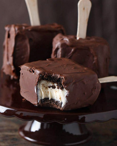 Chocolate Covered Brownie Ice Cream Sandwich by tracylopez