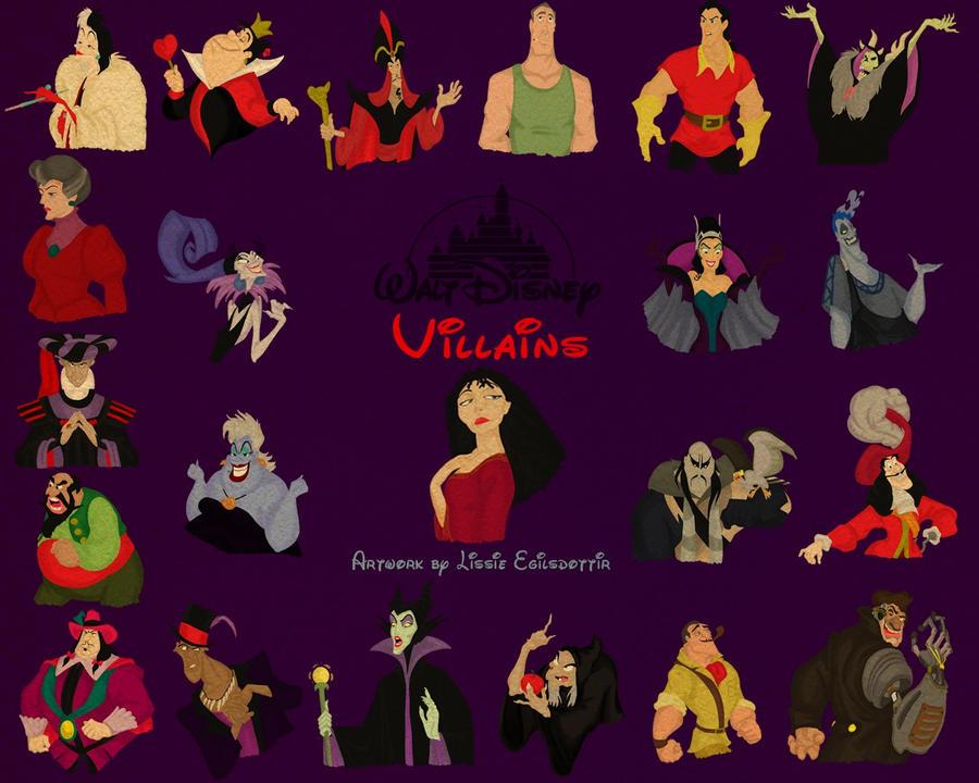 Disneys Atlantis The Villains: Disney Villains Wallpaper2 By Panda-ai On DeviantArt