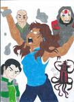 Korra VS the Villians by FreeingMyAngelWings