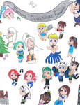 Christmas Collage of OCs 2015