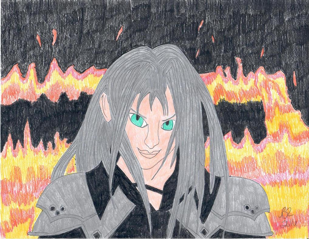 Sephiroth the One Winged Angel by FreeingMyAngelWings