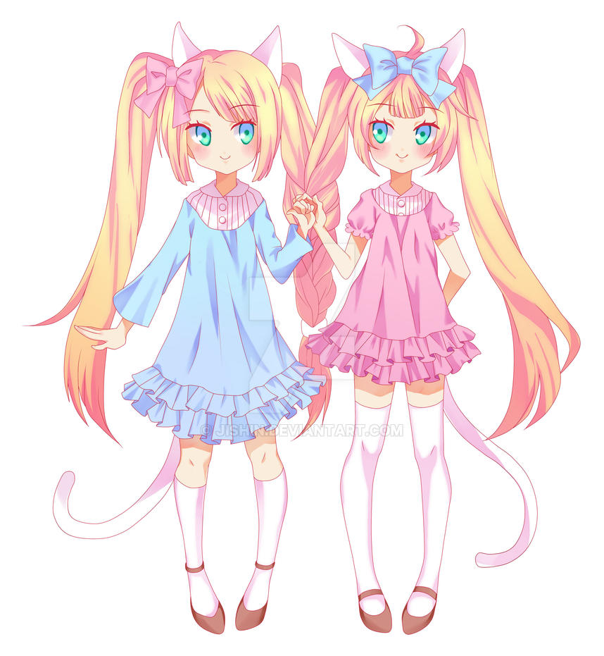 Twin Adoptables [OPEN] by Jishin