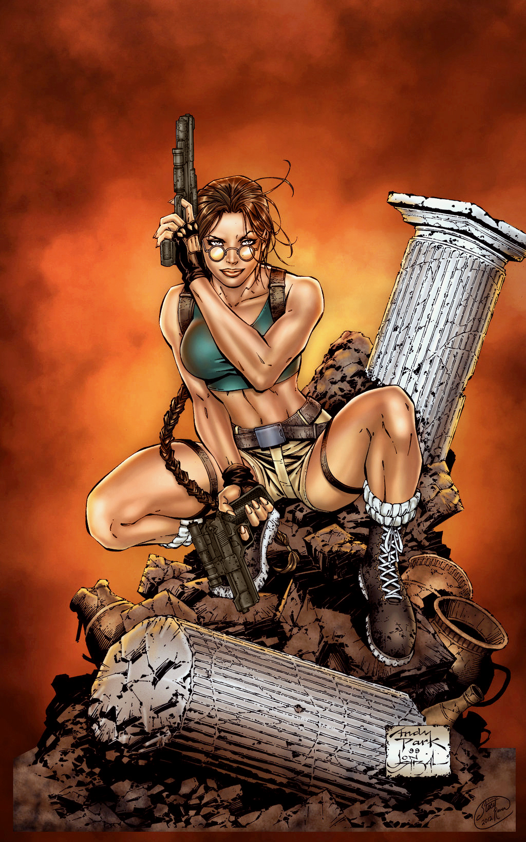 Lara Croft - Colored by StacyRaven