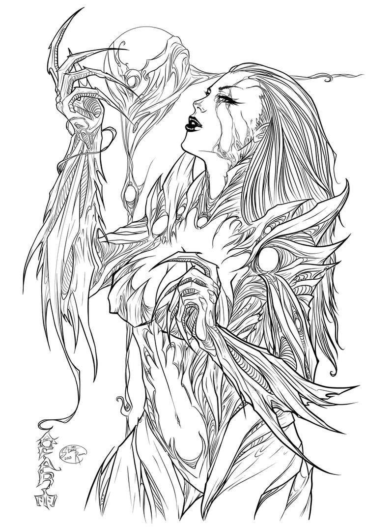 Cafaro's Witchblade - Inks by StacyRaven