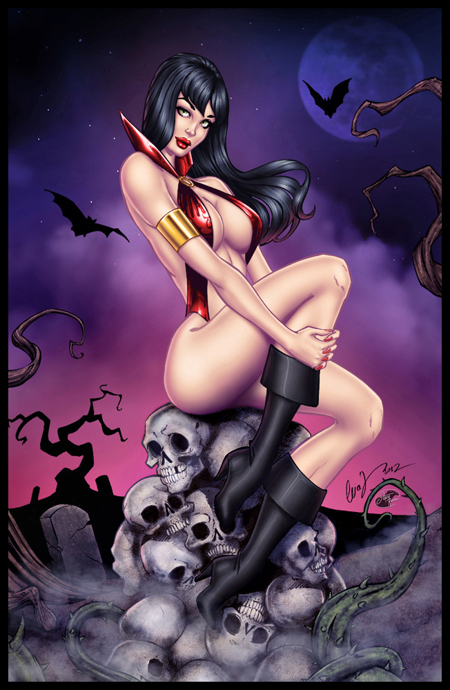 Elias Chatzoudis' Vampirella - Colors by TracyWong