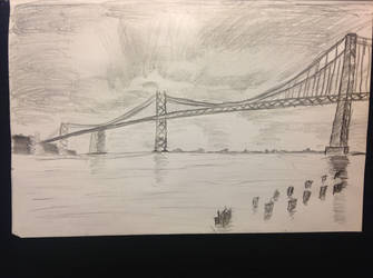 Oakland Bay Bridge by realTIMematrix