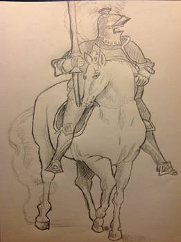 Unknown Knight with Horse