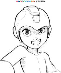 Mega Man by sykosan