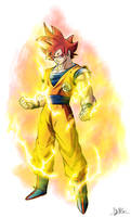 Real Goku Super Saiyan God
