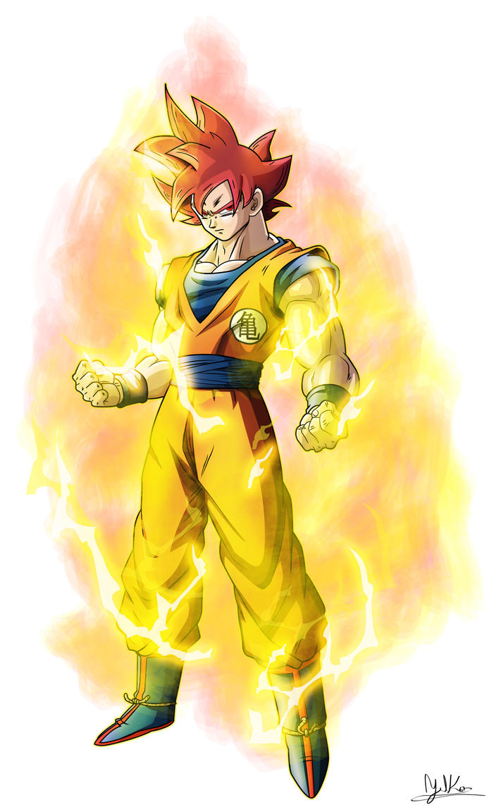 Real goku super saiyan god by xyelkiltrox on deviantart - Goku 5 super saiyan ...