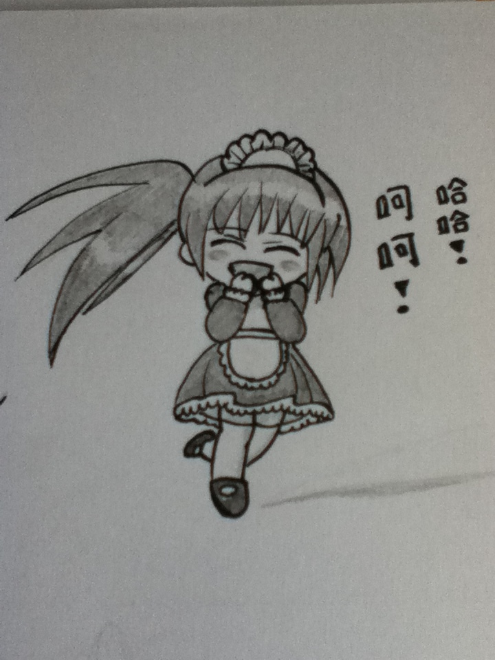 Chibi drawing ~Happy/Laughing~ by AmuTsukiyomi888 on ...