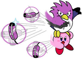 Kirby and Coo (Cutter Ability) by JBX9001