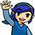 Blue Link Wave Icon by JBX9001