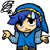 Blue Link Upset Icon