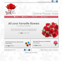 Web design for online flower store by slitchz