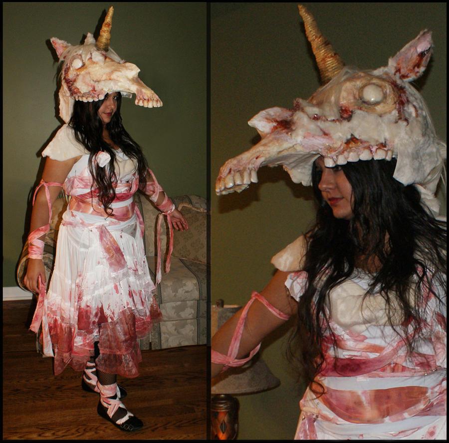 Zombie Unicorn Halloween Costume 2012 by scenceable